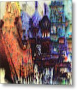 Moscow In The Rain Metal Print