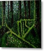 Moss-covered Roots Metal Print