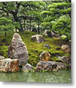 Mossy Japanese Garden Metal Print
