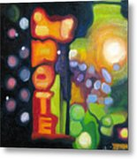 Motel Lights Metal Print