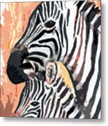 Mother And Baby Metal Print