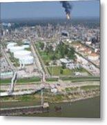 Motiva Petroleum Refinery Is Located Metal Print
