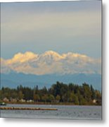 Mount Baker From Semiahmoo Bay In Washington Metal Print