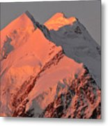 Mount Cook Range On South Island In New Zealand Metal Print