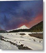 Mount Hood Winter Wonderland Metal Print