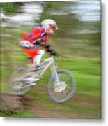 Mountain Bike Rider Metal Print