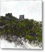 Mountain Cottage In Fynbos Metal Print