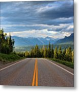 Mountain Highway Metal Print