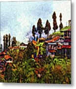 Mountain Living Impasto Metal Print