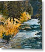 Mountain River Metal Print by Rita Bentley