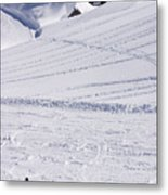 Mountain Skiing Metal Print