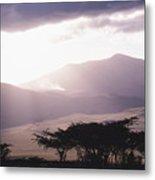 Mountains And Smoke, Ngorongoro Crater Metal Print