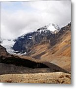 Mountains Clouds And Glaciers 2 Metal Print