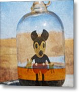 Mouse In A Bottle  Metal Print