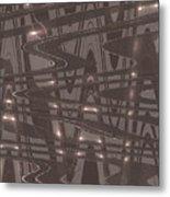 Moveonart Future Lights Metal Print