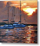 Moving Toward The Light Metal Print