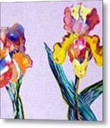 Mr. And Mrs. Yellow Iris Metal Print