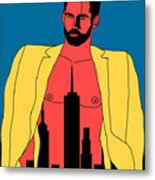 Mr. Big Apple Metal Print