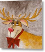 Mr Reindeer Metal Print