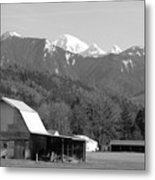 Mt. Baker Wine Country Metal Print