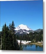 Mt. Rainier And Tipsoo Lake Metal Print