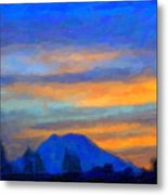 Mt. Rainier At Sunrise Metal Print