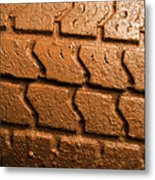 Muddy Tire Metal Print