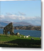 Mull And The Trossachs From Iona Metal Print
