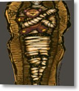 Mummy And Teddy Metal Print