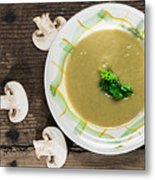Mushroom Soup Metal Print by Deyan Georgiev