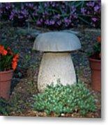 Mushroom Stool Metal Print