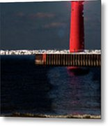 Muskegon Mi Lighthouse Metal Print