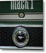 Mustang Mach 1 Emblem Metal Print
