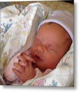 My Baby Prays Metal Print