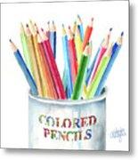 My Colored Pencils Metal Print