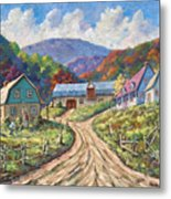 My Country My Village Metal Print