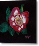 My Grandma's Rose Metal Print