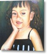 My Little Daughter Metal Print
