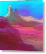 My Pink Desert Metal Print
