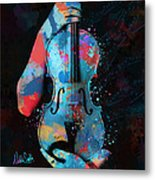 My Violin Whispers Music In The Night Metal Print by Nikki Marie Smith