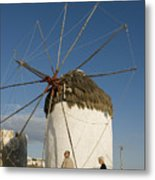 Mykonos Icon Windmill Metal Print