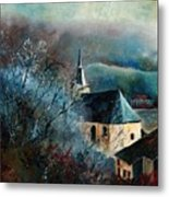 Mysterious Chapel Metal Print