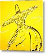 Mystic Dancer In Yellow Metal Print by Faraz Khan