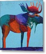 Mystic Moose Metal Print