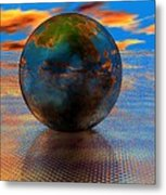 Mystical Blue Metal Print
