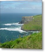 Mystical Cliffs Metal Print