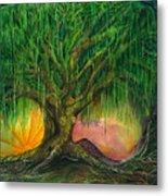 Mystical Willow Metal Print