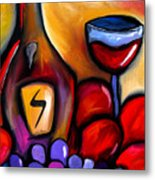 Napa Mix - Abstract Wine Art By Fidostudio Metal Print