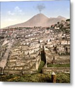 Naples: Mt. Vesuvius Metal Print