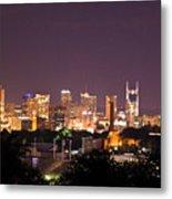 Nashville Cityscape 3 Metal Print by Douglas Barnett
